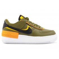 DC1876-300 Donne NIKE AIR FORCE 1 SHADOW Scarpe - Olive/Nere/Oro
