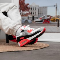 CT1685-100 Nike Air Max 90 OG III *Infrared* - Bianche/Nere/Grigio/Rosse