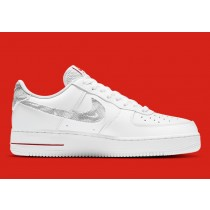 """DH3941-100 Nike Air Force 1 Low """"Topography"""" Scarpe - Bianche/Nere/Rosse"""