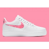 """CV8482-100 Nike Air Force 1 """"Love For All"""" - Bianche/Sunset Pulse-Nere-Clear"""