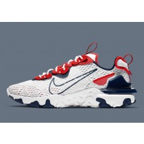CW7355-100 Nike React Vision Scarpe - Bianche/Navy/Rosse