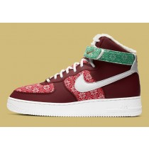 DC1620-600 Nike Air Force 1 High Christmas Scarpe - Rosse/Bianche/Rosse