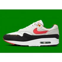 DC1478-100 Nike Air Max 1 - Bianche/Photon Dust/Blu/Rosse