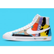 CZ3775-900 Ruohan Wang x Nike Blazer Mid '77 Flyleather - Multi-Color/Multi-Color