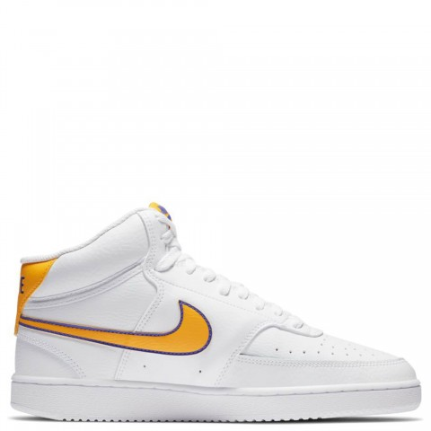 CD5466-102 Nike COURT VISION MID Scarpe - Bianche/Oro-Persian Violet