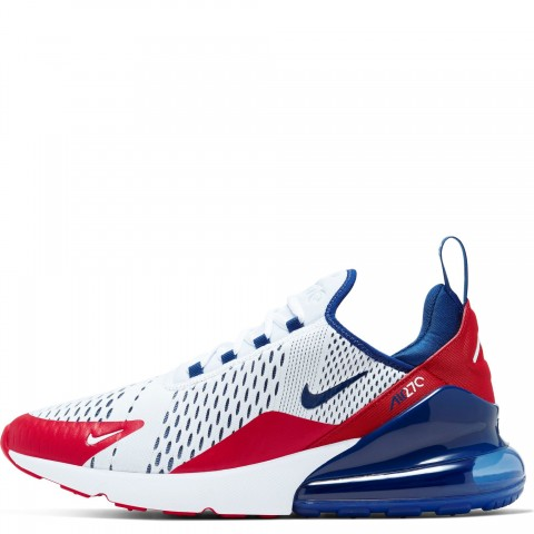 CW5581-100 Nike AIR MAX 270 Scarpe - Bianche/Rosse-Deep Royal