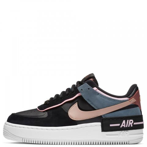 CU5315-001 Nike Donne AIR FORCE 1 SHADOW - Nere/Metallic Red Bronze-Rosa