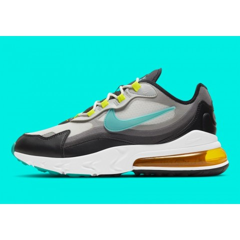 "DJ5856-100 Nike Air Max 270 React ""Evolution of Icons"" Scarpe - Grigio/Nere-Blu"
