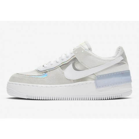 DC5255-043 Nike Air Force 1 Low Shadow Scarpe - Pure Platinum/Bianche-Argento