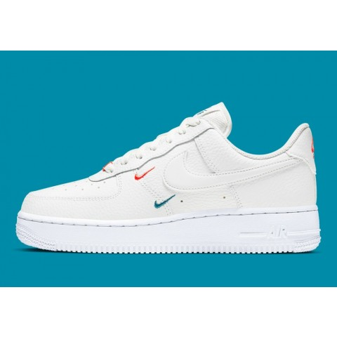CT1989-101 Nike Air Force 1 Low Scarpe - Bianche/Bianche-Rosse