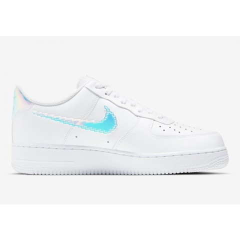 CV1699-100 Nike Air Force 1 Low 'Iridescent Pixel' - Bianche/Bianche