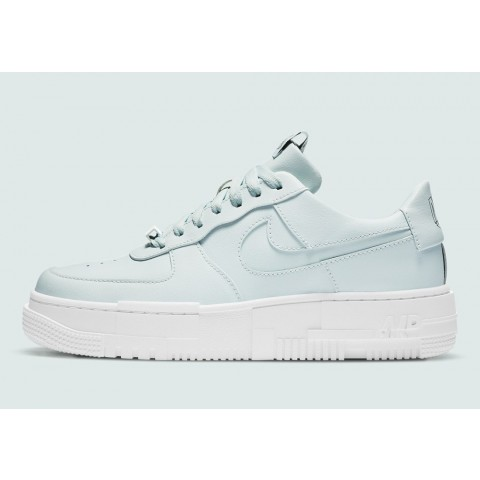 CK6649-400 Nike Air Force 1 Pixel Scarpe - Ghost Aqua/Nere
