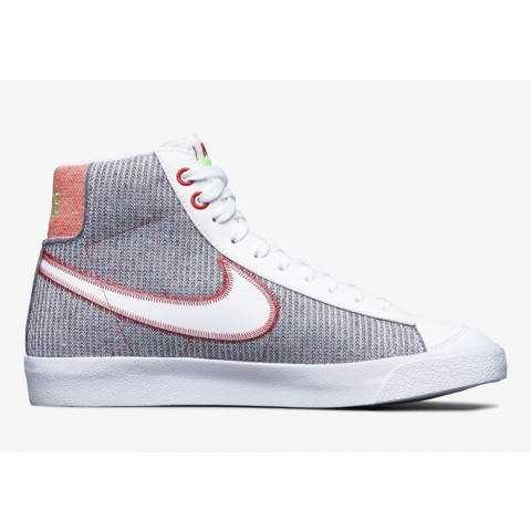 "CW5838-022 Nike Blazer Mid '77 ""Recycled Jersey Pack"" - Grigio/Bianche/Rosse/Verdi"